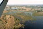 Flying into Okavango Delta